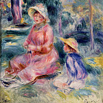 Пьер Огюст Ренуар - Madame Renoir and Her Son Pierre - 1890