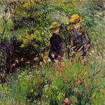 Conversation in a Rose Garden - 1876, Pierre-Auguste Renoir