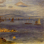 The Coast of Brittany, Fishing Boats - 1878, Pierre-Auguste Renoir
