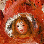 Girl with Hat, Pierre-Auguste Renoir