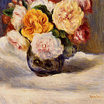 Bouquet of Roses - 1883, Pierre-Auguste Renoir