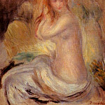 Bather - 1889, Pierre-Auguste Renoir
