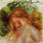 Head of a Woman - 1918, Pierre-Auguste Renoir