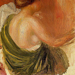 Seated Woman in a Green Robe - 1890, Pierre-Auguste Renoir