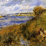The Banks of the Seine at Champrosay - 1876, Pierre-Auguste Renoir