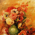 Pierre-Auguste Renoir - Still Life with Roses - 1910