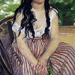 Pierre-Auguste Renoir - The Gypsy Girl (also known as Summer) - 1868