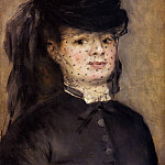Madame Darras as an Horsewoman - 1873, Pierre-Auguste Renoir