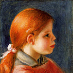 Head of a Young Woman - 1888, Pierre-Auguste Renoir