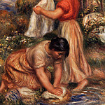 Laundresses - ок 1912, Pierre-Auguste Renoir