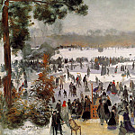 Skaters in the Bois de Boulogne - 1868, Pierre-Auguste Renoir