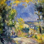 View Close to Antibes – 1889, Pierre-Auguste Renoir