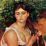 Pierre-Auguste Renoir - The Braid (also known as Suzanne Valadon) - 1884 - 1886