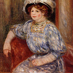 Woman in Blue - 1906 - 1919, Pierre-Auguste Renoir