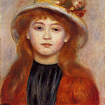 Woman Wearing a Hat - 1889, Pierre-Auguste Renoir