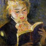 Pierre-Auguste Renoir - The Reader (also known as Young Woman Reading a Book) - 1875 - 1876