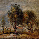 Пьер Огюст Ренуар - Landscape (after Corot) - 1898