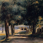 Pine Wood on the Cote dAzur - 1885, Pierre-Auguste Renoir