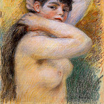 Young Woman at Her Toilette – 1885 – P. C., Pierre-Auguste Renoir