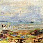 Rocks with Shrimp Fishermen - 1892, Pierre-Auguste Renoir