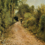 On the Path - 1872, Pierre-Auguste Renoir