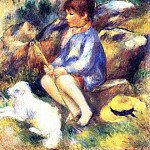 Young Boy by the River – 1890, Pierre-Auguste Renoir