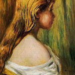 Head of a Young Girl - 1890, Pierre-Auguste Renoir