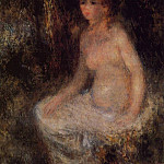 Nude Sitting in the Forest - 1876, Pierre-Auguste Renoir