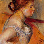 Pierre-Auguste Renoir - Head of a Young Girl - 1880