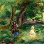 Pierre-Auguste Renoir - Three Figures in a Landscape