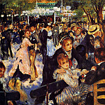 Пьер Огюст Ренуар - Dance at the Moulin de la Galette - 1876