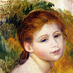 Head of a Woman - 1887, Pierre-Auguste Renoir