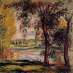 Trees by the Water, Pierre-Auguste Renoir
