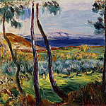 Pierre-Auguste Renoir - Pines in the Vicinity of Cagnes - 1910