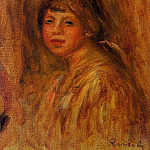 Head of a Young Woman - 1915, Pierre-Auguste Renoir