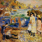 Children by the Sea in Guernsey - 1883, Pierre-Auguste Renoir