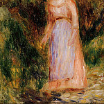 Young Woman Taking a Walk, Pierre-Auguste Renoir