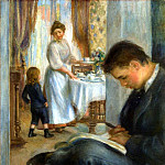 Breakfast at Berneval - 1898, Pierre-Auguste Renoir