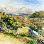 Пьер Огюст Ренуар - The View from Collettes, Cagnes - 1910 - 1911