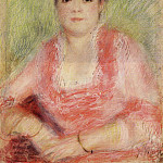 Portrait of a Woman in a Red Dress - 1881, Pierre-Auguste Renoir