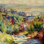The Hills of Trouville - 1885, Pierre-Auguste Renoir