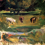 Пьер Огюст Ренуар - Landscape with Horses