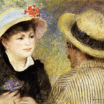 Pierre-Auguste Renoir - Boating Couple (also known as Aline Charigot and Renoir) - 1880-1881