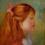 Pierre-Auguste Renoir - Young Girl with Long Hair in Profile - 1890 (Private collection)