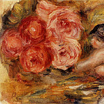 Roses and Study of Gabrielle – 1915, Pierre-Auguste Renoir