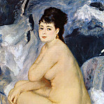 Nude Seated on a Sofa - 1876, Pierre-Auguste Renoir