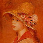 Portrait of a Young Girl - 1884-1885, Pierre-Auguste Renoir