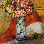 Пьер Огюст Ренуар - Roses in a Vase - 1876