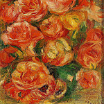 A Bowlful of Roses, Pierre-Auguste Renoir