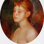 Study of a Young Girl - 1882, Pierre-Auguste Renoir